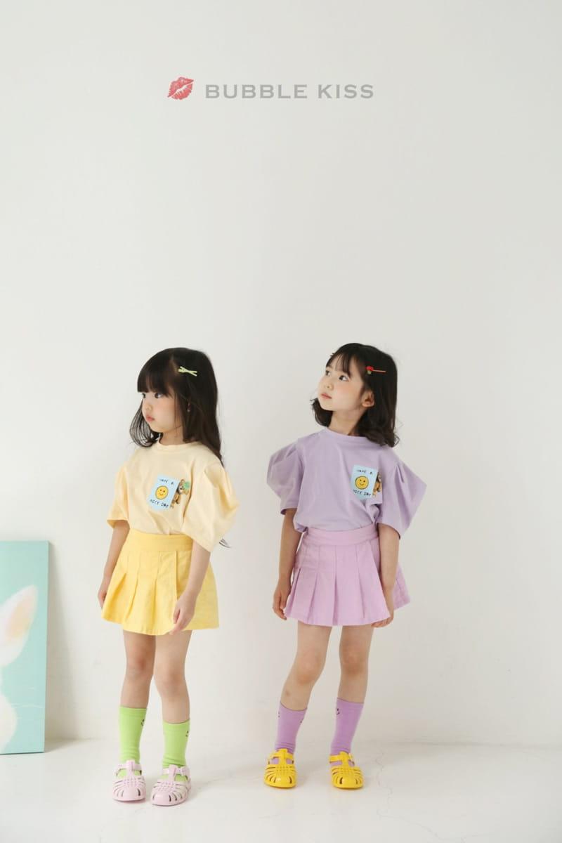 BUBBLE KISS - Korean Children Fashion - #Kfashion4kids - Teddy Bear Puff Tee - 6