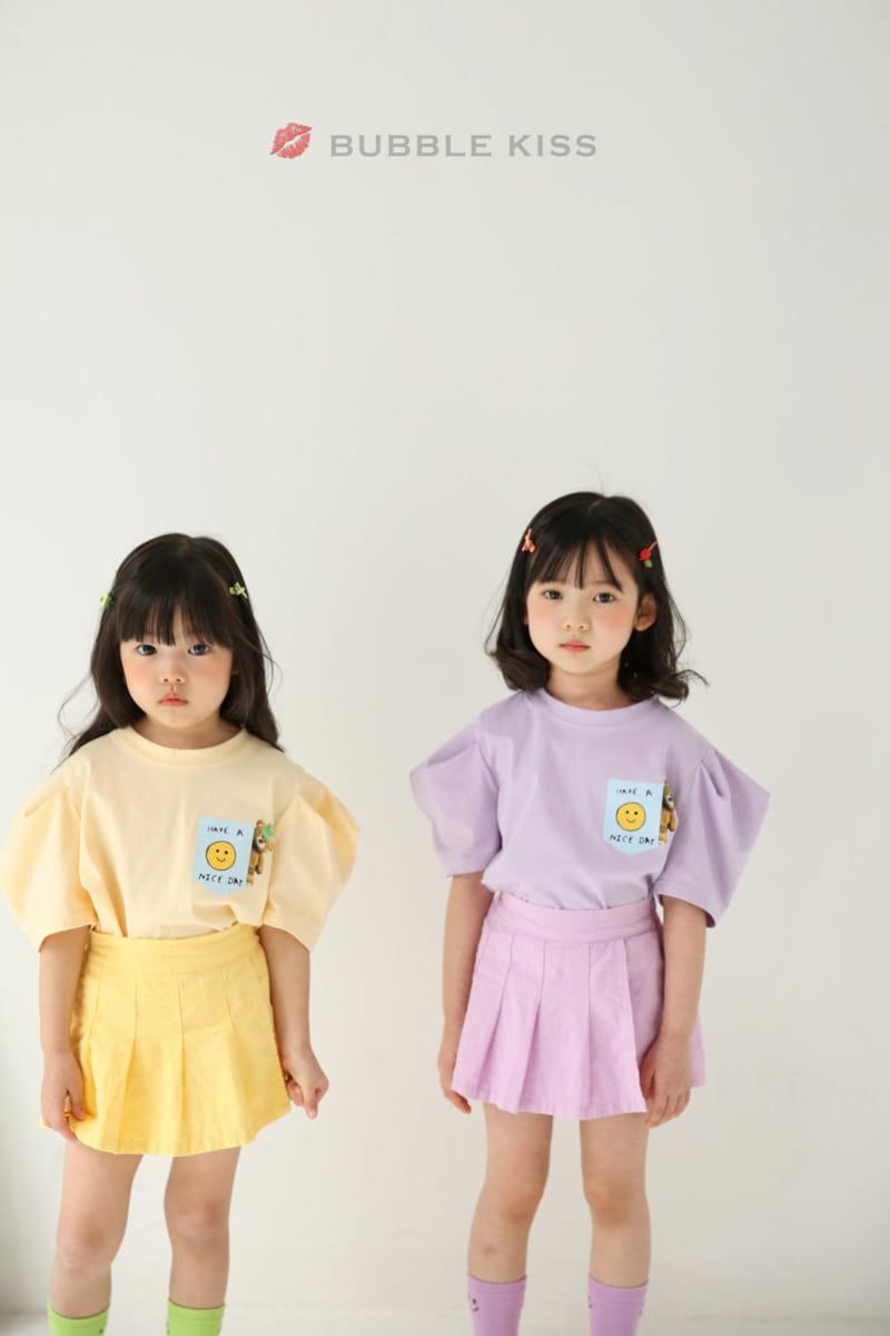 BUBBLE KISS - Korean Children Fashion - #Kfashion4kids - Teddy Bear Puff Tee - 7