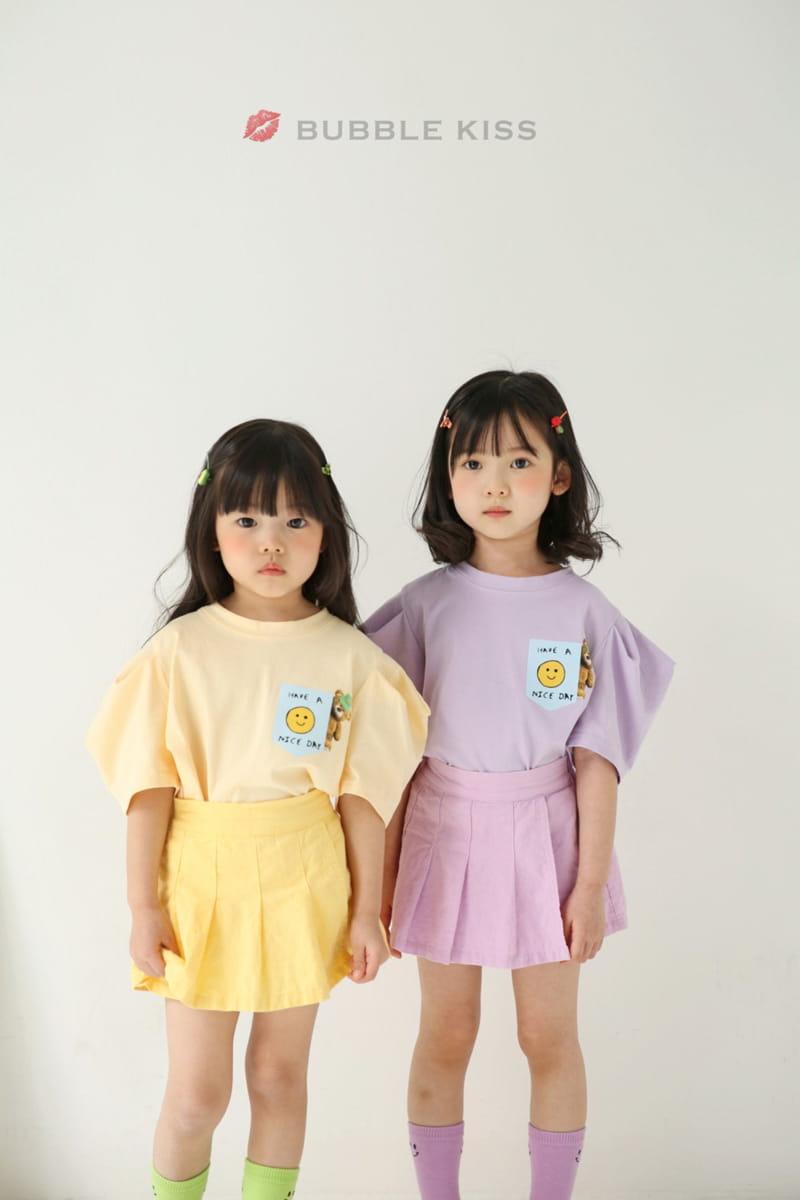 BUBBLE KISS - Korean Children Fashion - #Kfashion4kids - Teddy Bear Puff Tee - 8