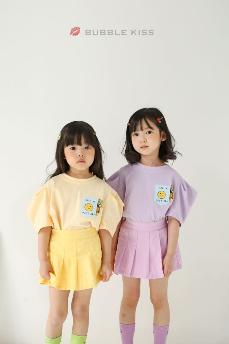BUBBLE KISS - Korean Children Fashion - #Kfashion4kids - Teddy Bear Puff Tee - 9