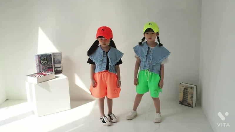 BUBBLE KISS - Korean Children Fashion - #Kfashion4kids - Frill Denim Vest