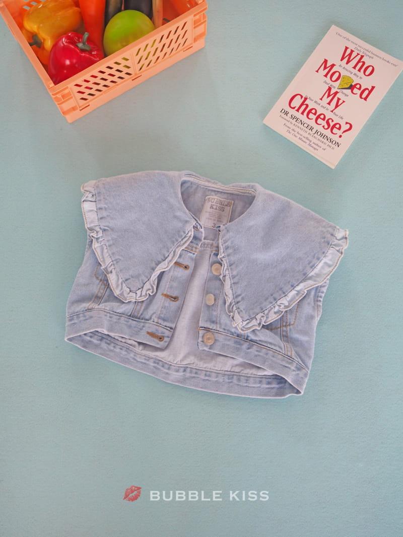 BUBBLE KISS - Korean Children Fashion - #Kfashion4kids - Frill Denim Vest - 3