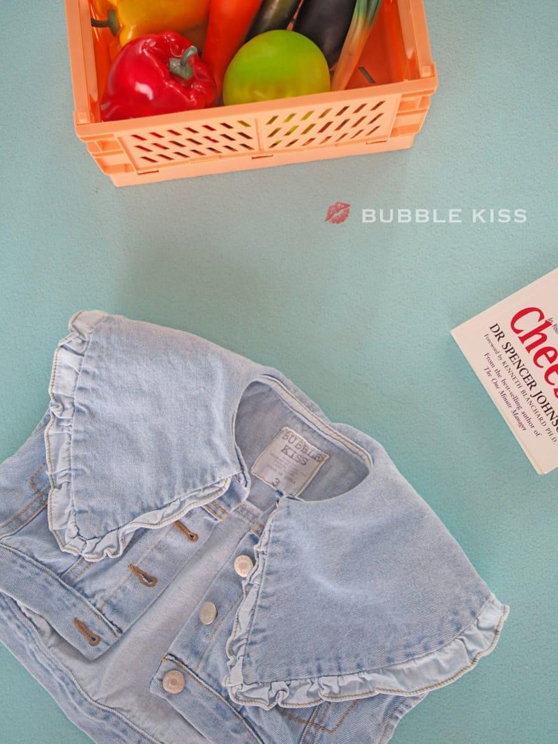 BUBBLE KISS - Korean Children Fashion - #Kfashion4kids - Frill Denim Vest - 4