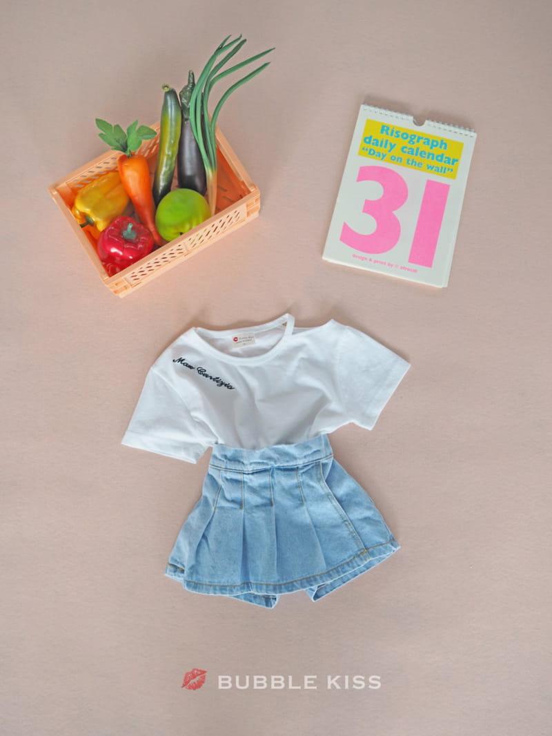 BUBBLE KISS - Korean Children Fashion - #Kfashion4kids - Lettering Choker Tee - 12