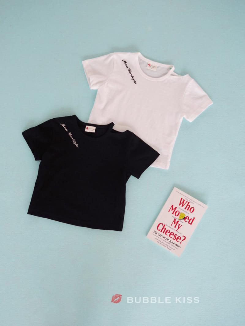 BUBBLE KISS - Korean Children Fashion - #Kfashion4kids - Lettering Choker Tee - 2