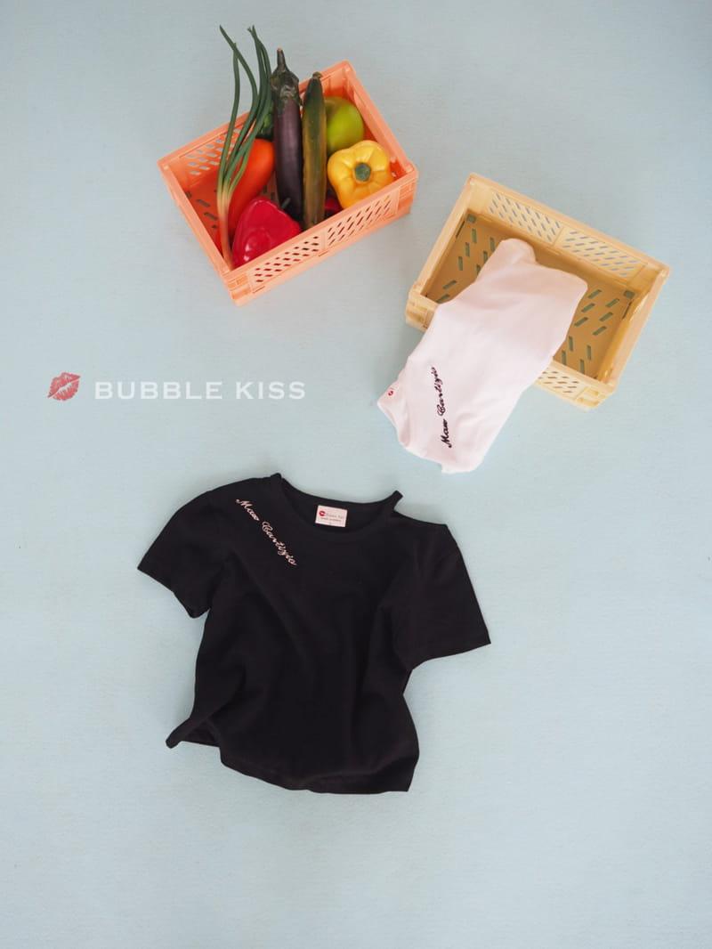 BUBBLE KISS - Korean Children Fashion - #Kfashion4kids - Lettering Choker Tee - 4