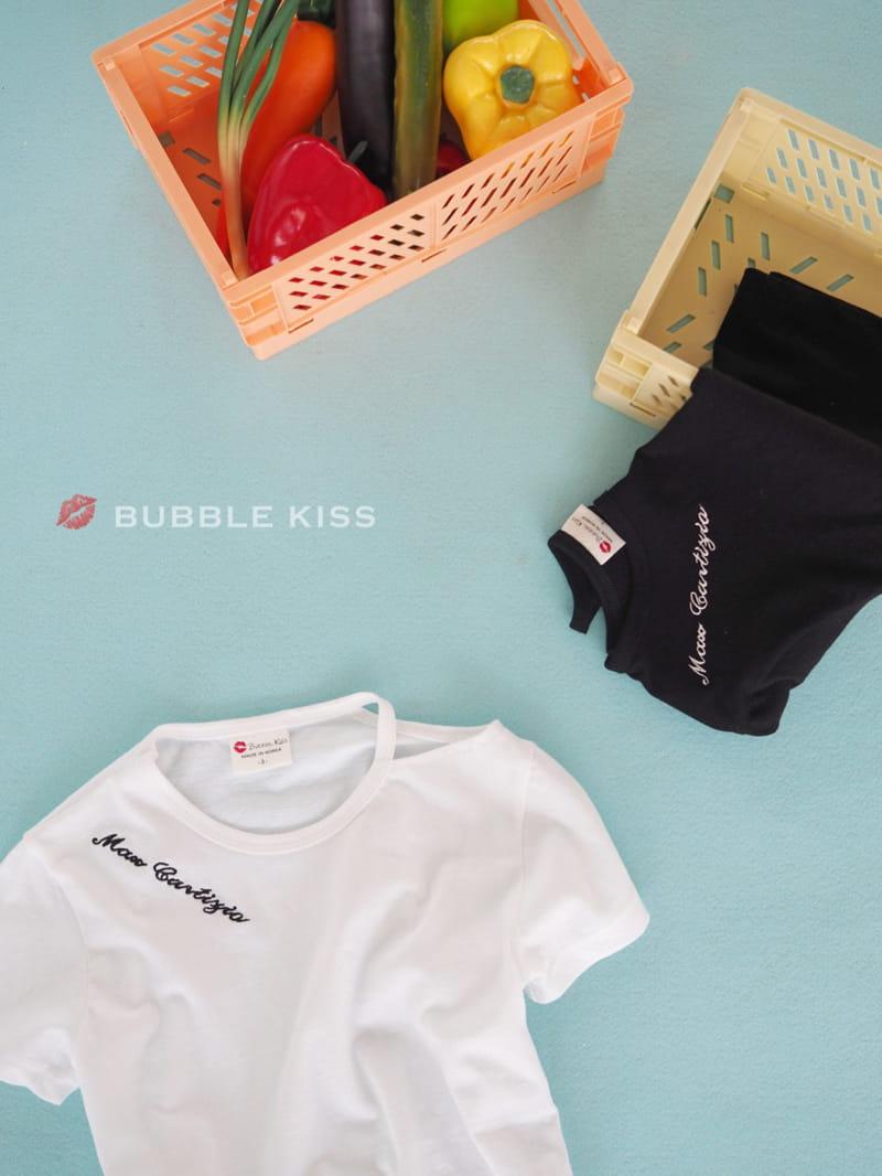 BUBBLE KISS - Korean Children Fashion - #Kfashion4kids - Lettering Choker Tee - 6