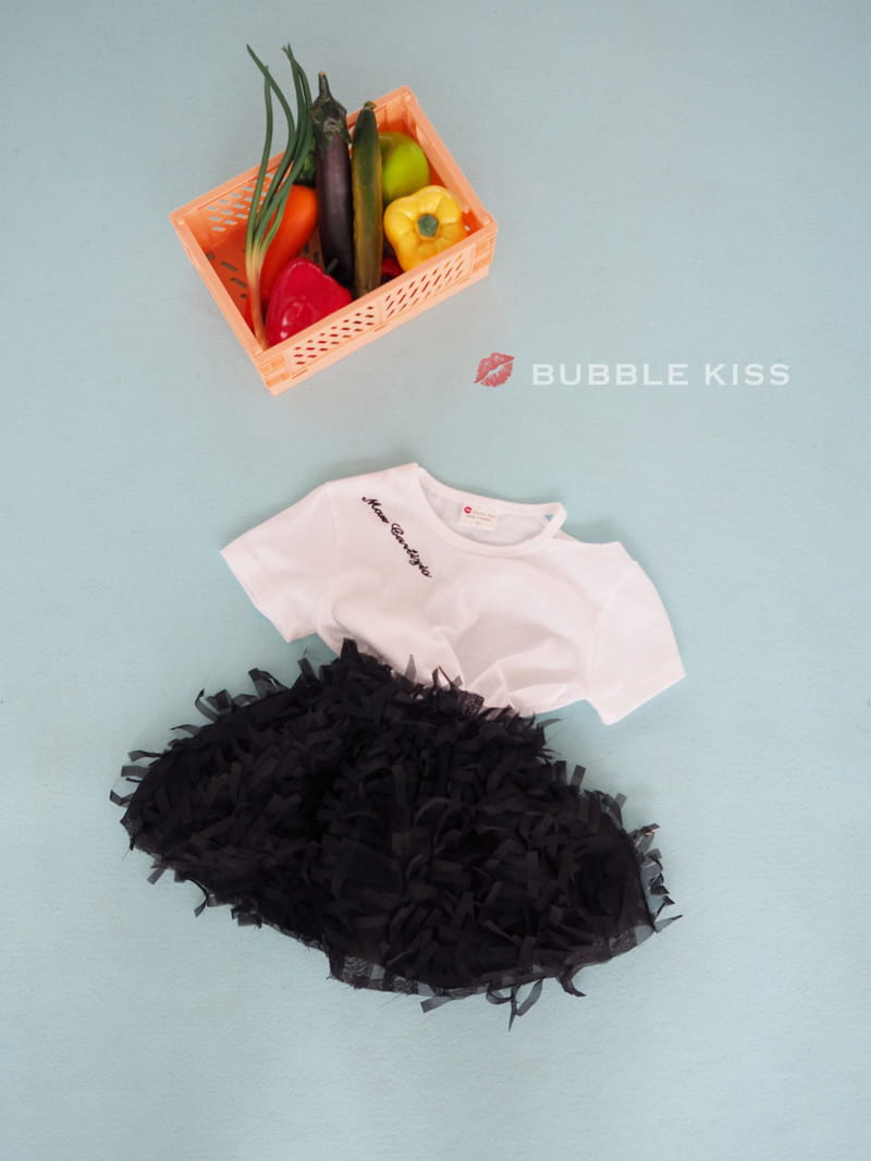 BUBBLE KISS - Korean Children Fashion - #Kfashion4kids - Lettering Choker Tee - 7