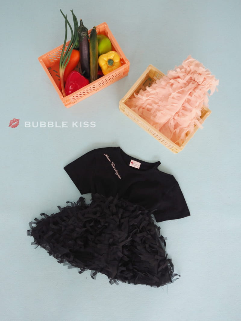 BUBBLE KISS - Korean Children Fashion - #Kfashion4kids - Lettering Choker Tee - 9