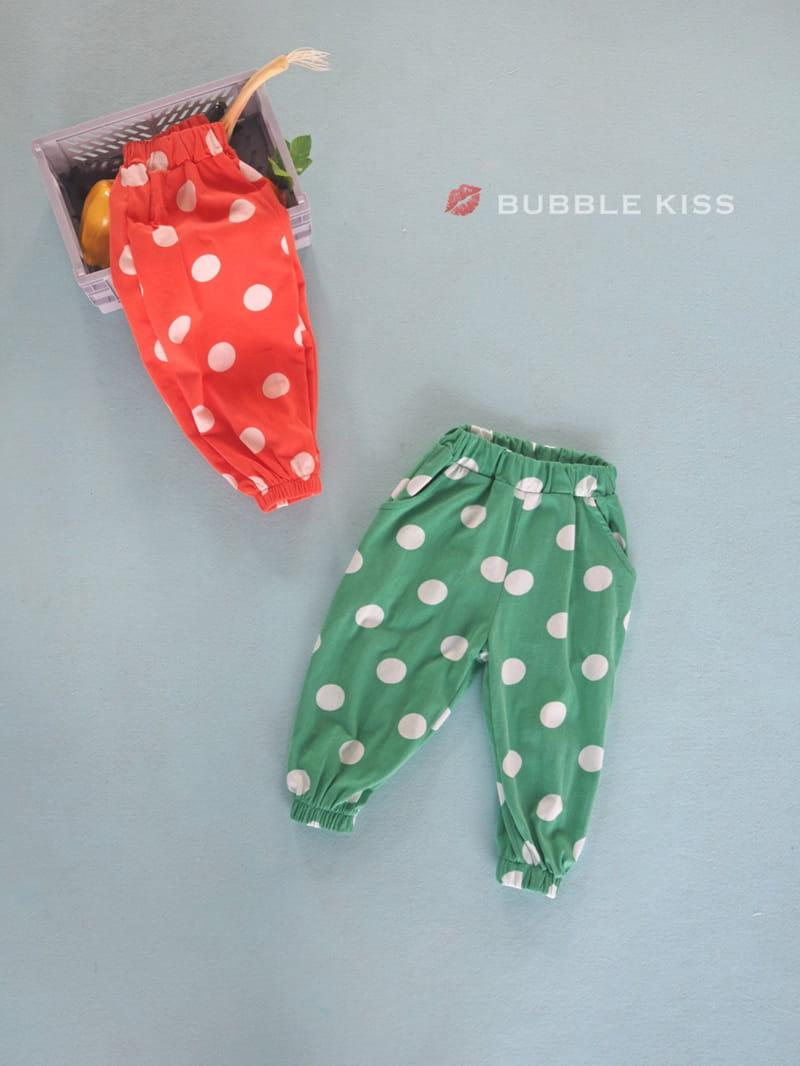 BUBBLE KISS - Korean Children Fashion - #Kfashion4kids - Dots Jogger Pants - 4