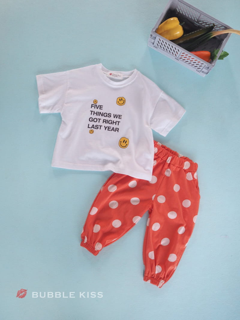 BUBBLE KISS - Korean Children Fashion - #Kfashion4kids - Dots Jogger Pants - 6