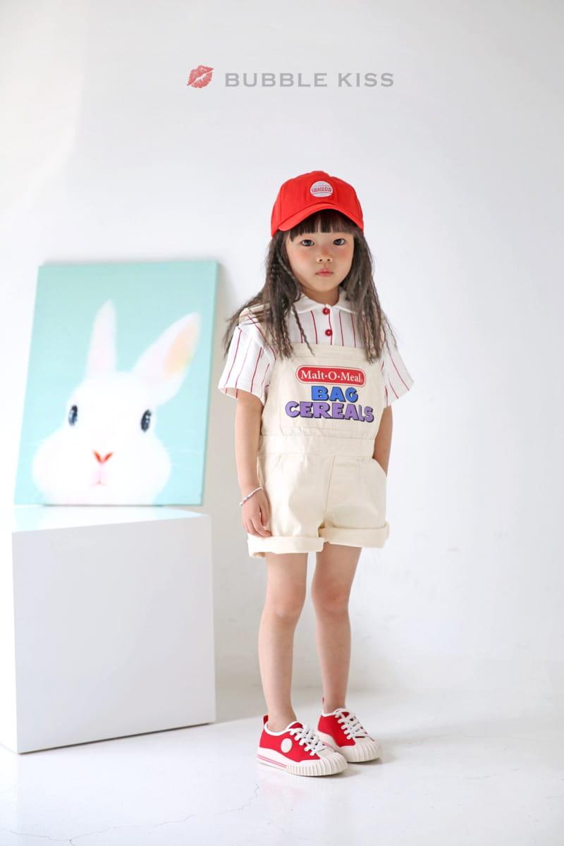 BUBBLE KISS - Korean Children Fashion - #Kfashion4kids - Stripes Collar Tee - 10