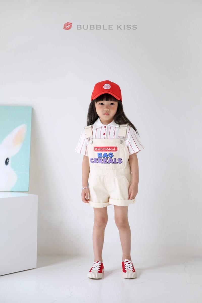 BUBBLE KISS - Korean Children Fashion - #Kfashion4kids - Stripes Collar Tee - 11