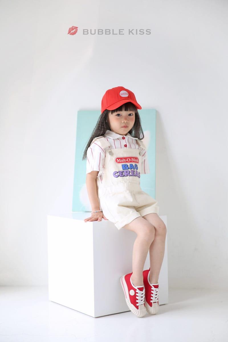 BUBBLE KISS - Korean Children Fashion - #Kfashion4kids - Stripes Collar Tee - 12