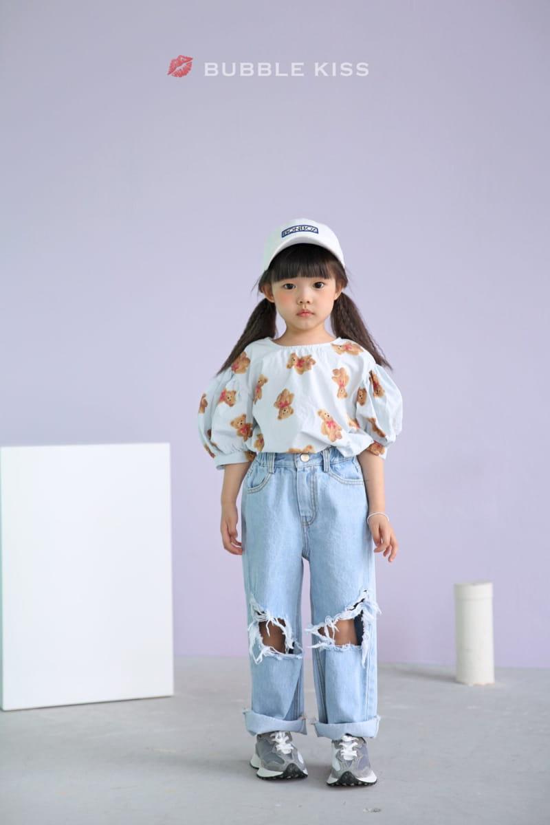 BUBBLE KISS - Korean Children Fashion - #Kfashion4kids - Mopa Slit Jeans
