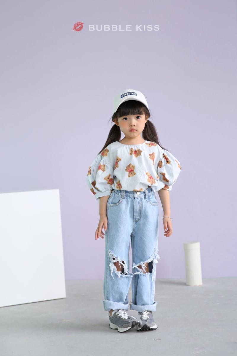BUBBLE KISS - Korean Children Fashion - #Kfashion4kids - Mopa Slit Jeans - 2