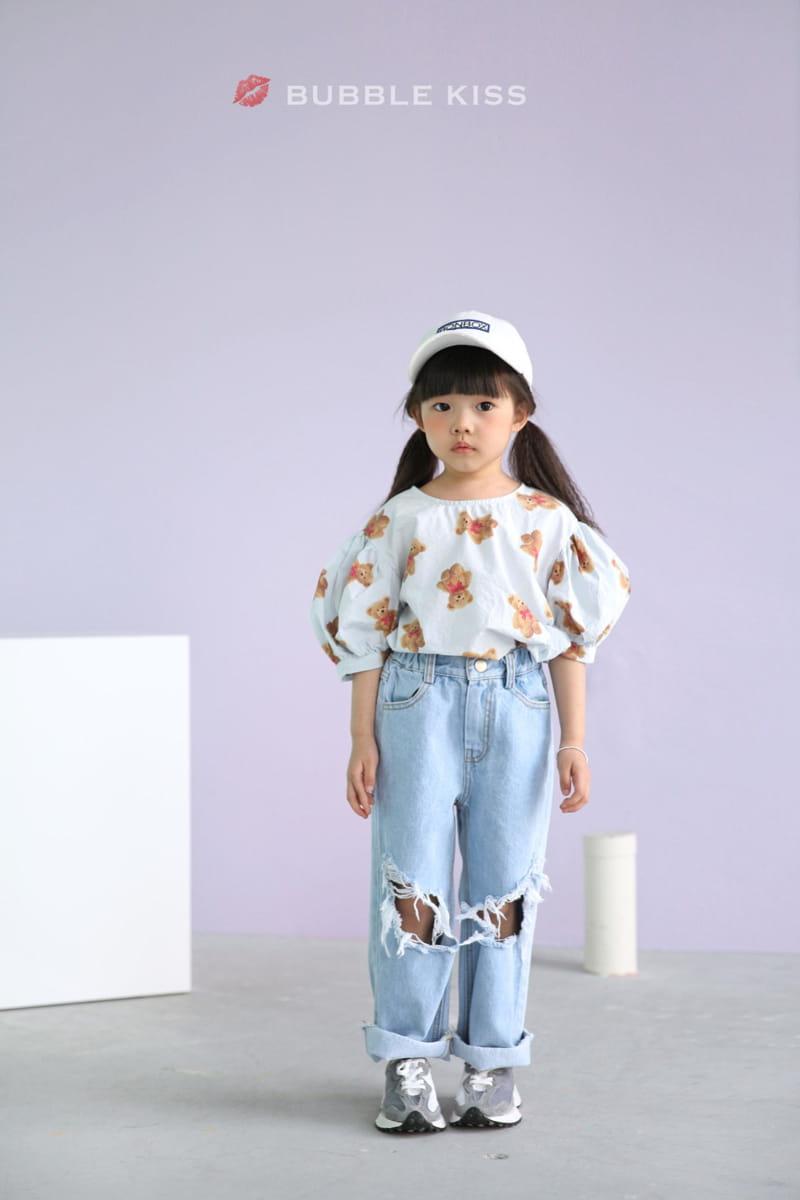 BUBBLE KISS - Korean Children Fashion - #Kfashion4kids - Mopa Slit Jeans - 3