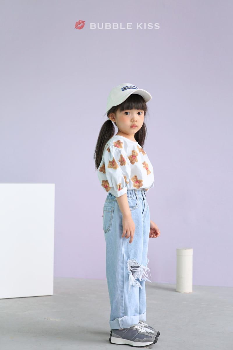 BUBBLE KISS - Korean Children Fashion - #Kfashion4kids - Mopa Slit Jeans - 4