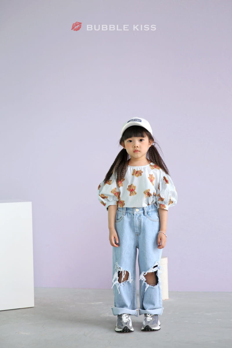 BUBBLE KISS - Korean Children Fashion - #Kfashion4kids - Mopa Slit Jeans - 7