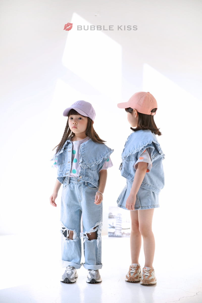 BUBBLE KISS - Korean Children Fashion - #Kfashion4kids - Mopa Slit Jeans - 9