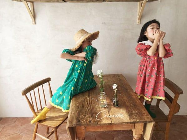CONCOCTER - Korean Children Fashion - #Kfashion4kids - Flower Girl Boxy One-piece - 6