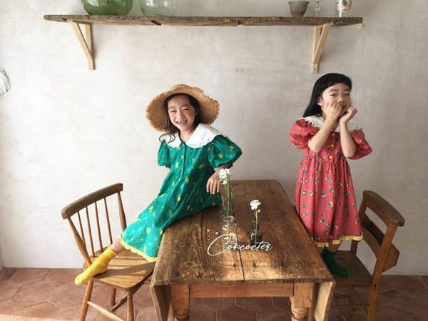 CONCOCTER - Korean Children Fashion - #Kfashion4kids - Flower Girl Boxy One-piece - 7