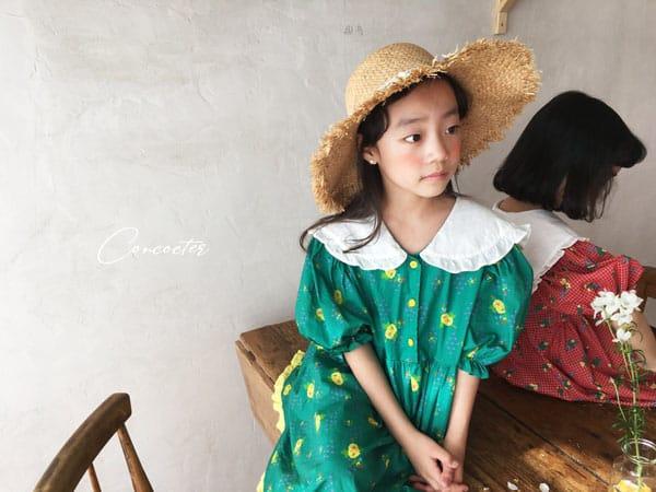 CONCOCTER - Korean Children Fashion - #Kfashion4kids - Flower Girl Boxy One-piece - 8