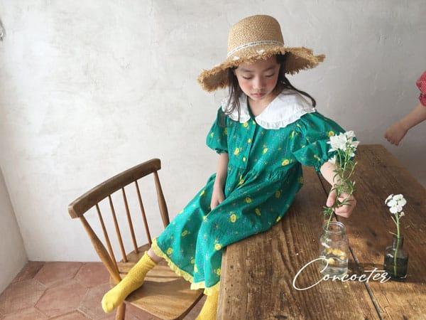 CONCOCTER - Korean Children Fashion - #Kfashion4kids - Flower Girl Boxy One-piece - 9