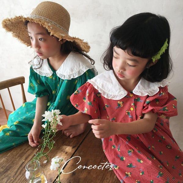 CONCOCTER - BRAND - Korean Children Fashion - #Kfashion4kids - Flower Girl Boxy One-piece