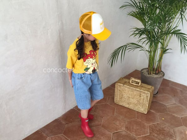 CONCOCTER - Korean Children Fashion - #Kfashion4kids - Application Capri Jean - 6