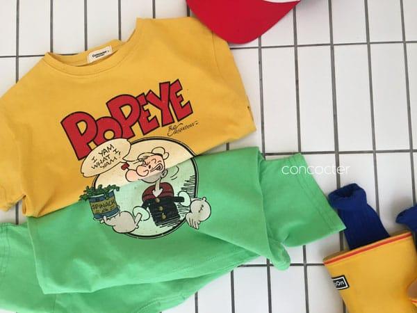 CONCOCTER - Korean Children Fashion - #Kfashion4kids - Spinach and Popeye Tee with Mom