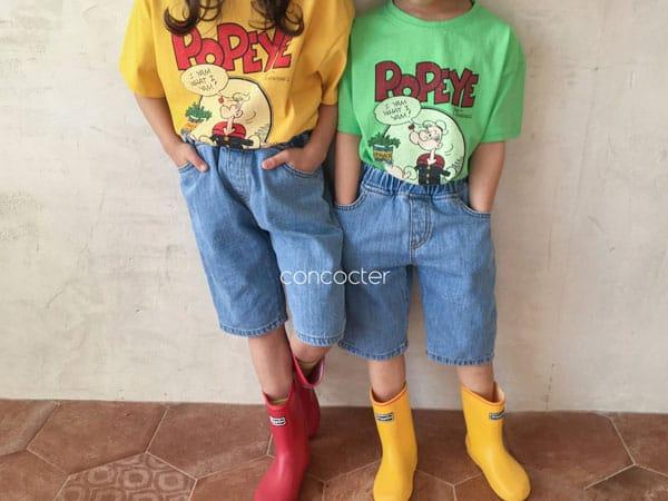 CONCOCTER - Korean Children Fashion - #Kfashion4kids - Spinach and Popeye Tee with Mom - 6