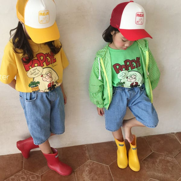 CONCOCTER - BRAND - Korean Children Fashion - #Kfashion4kids - Spinach and Popeye Tee with Mom