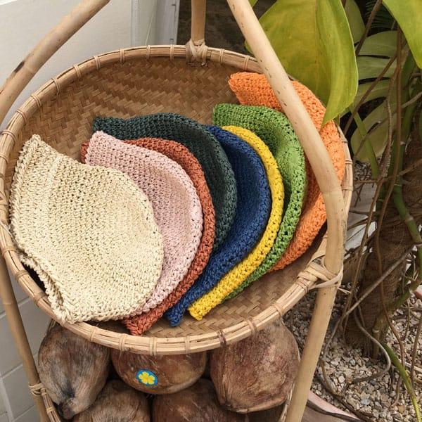 CONCOCTER - BRAND - Korean Children Fashion - #Kfashion4kids - Mango Staw Bucket Hat