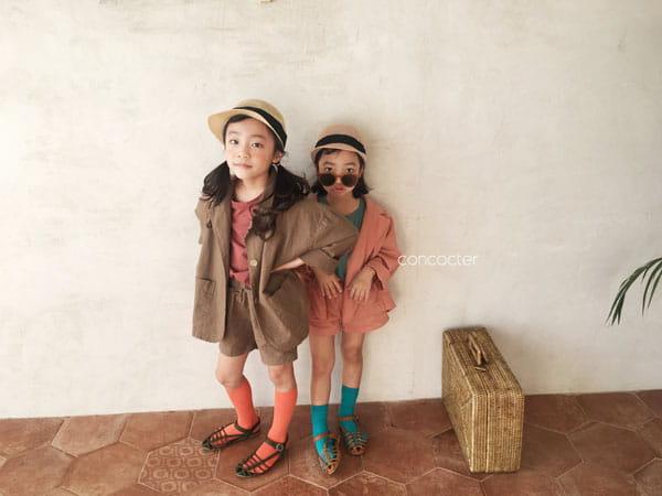 CONCOCTER - Korean Children Fashion - #Kfashion4kids - Firenze Suit Top Bottom Set