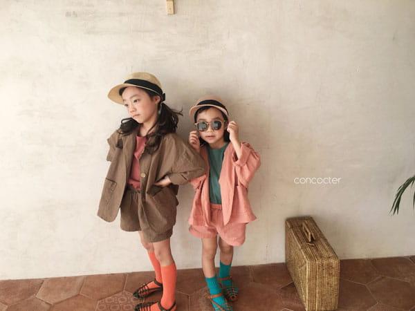 CONCOCTER - Korean Children Fashion - #Kfashion4kids - Firenze Suit Top Bottom Set - 2