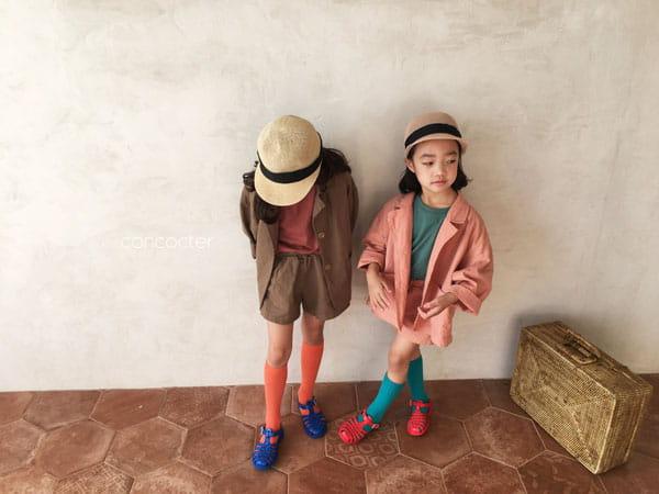 CONCOCTER - Korean Children Fashion - #Kfashion4kids - Firenze Suit Top Bottom Set - 3