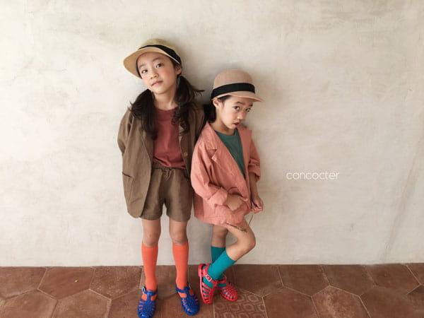 CONCOCTER - Korean Children Fashion - #Kfashion4kids - Firenze Suit Top Bottom Set - 6