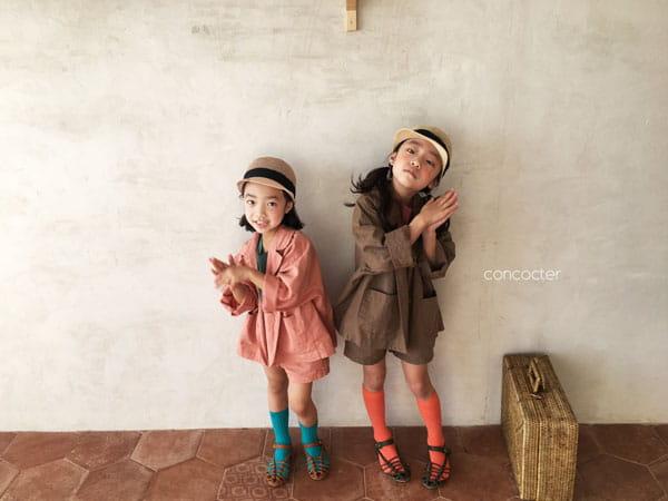 CONCOCTER - Korean Children Fashion - #Kfashion4kids - Firenze Suit Top Bottom Set - 8