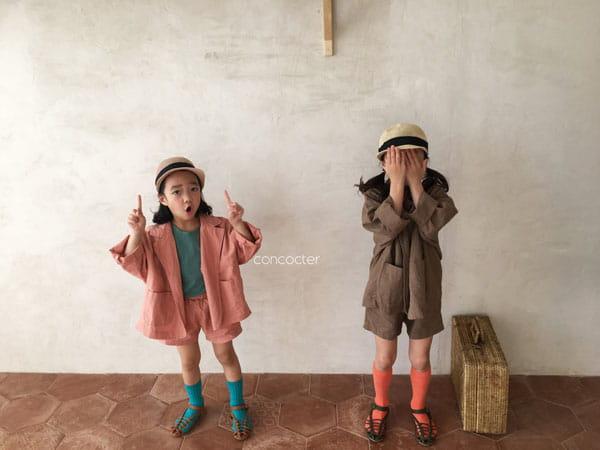 CONCOCTER - Korean Children Fashion - #Kfashion4kids - Firenze Suit Top Bottom Set - 9