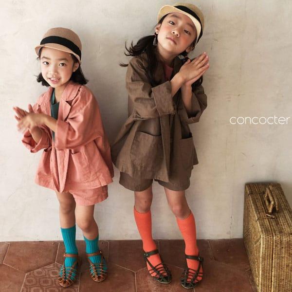 CONCOCTER - BRAND - Korean Children Fashion - #Kfashion4kids - Firenze Suit Top Bottom Set