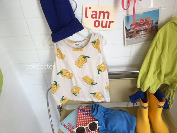 CONCOCTER - Korean Children Fashion - #Kfashion4kids - Paprika Sleeveless - 2