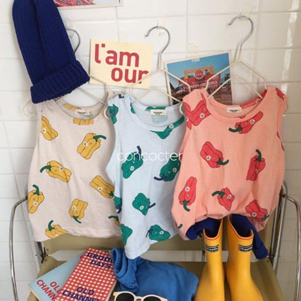 CONCOCTER - BRAND - Korean Children Fashion - #Kfashion4kids - Paprika Sleeveless