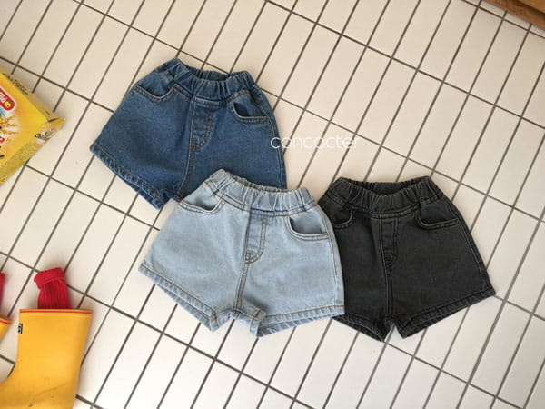 CONCOCTER - Korean Children Fashion - #Kfashion4kids - Three Color Denim Shorts