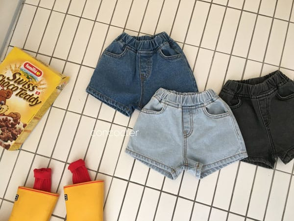 CONCOCTER - Korean Children Fashion - #Kfashion4kids - Three Color Denim Shorts - 2