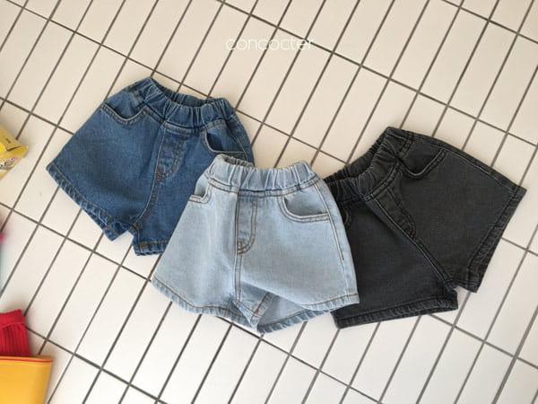 CONCOCTER - Korean Children Fashion - #Kfashion4kids - Three Color Denim Shorts - 3
