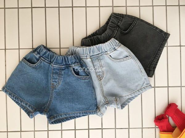 CONCOCTER - Korean Children Fashion - #Kfashion4kids - Three Color Denim Shorts - 5