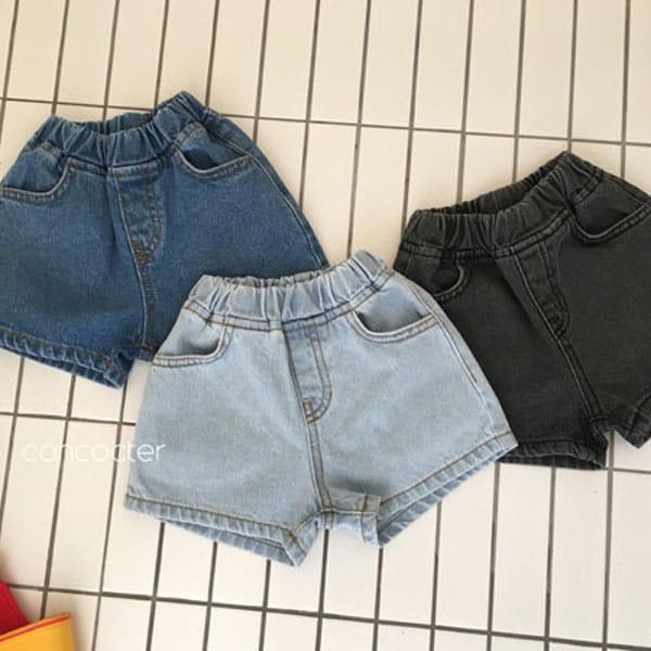 CONCOCTER - BRAND - Korean Children Fashion - #Kfashion4kids - Three Color Denim Shorts