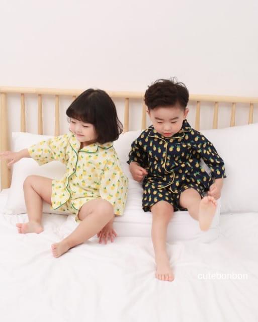 CUTEBONBON - BRAND - Korean Children Fashion - #Kfashion4kids - Pineapple Pajamas