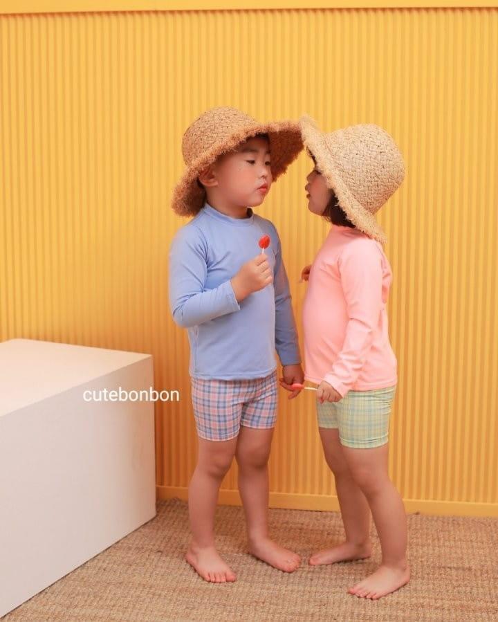 CUTEBONBON - Korean Children Fashion - #Kfashion4kids - Check Rashguard